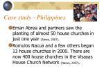case study philippines