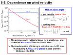 3 2 dependence on wind velocity