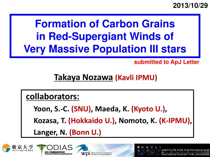 formation of carbon grains in red supergiant winds of very massive population iii stars n.