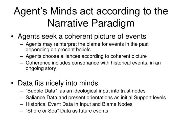 Agent's Minds act according to the Narrative Paradigm