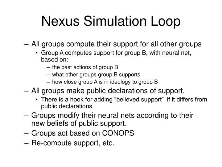 Nexus Simulation Loop