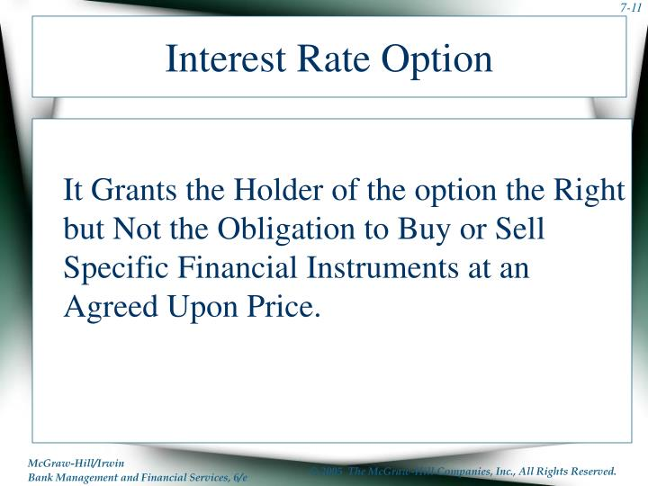 Interest Rate Option