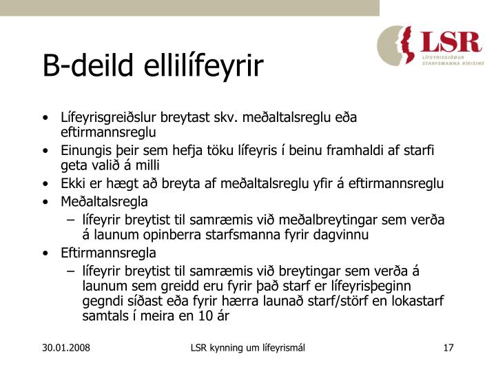 B-deild ellilífeyrir