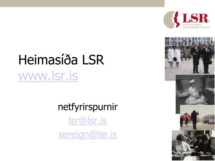 Heimasíða LSR