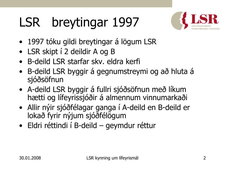Lsr breytingar 1997