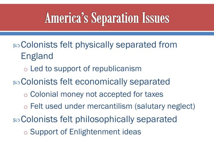 America's Separation Issues