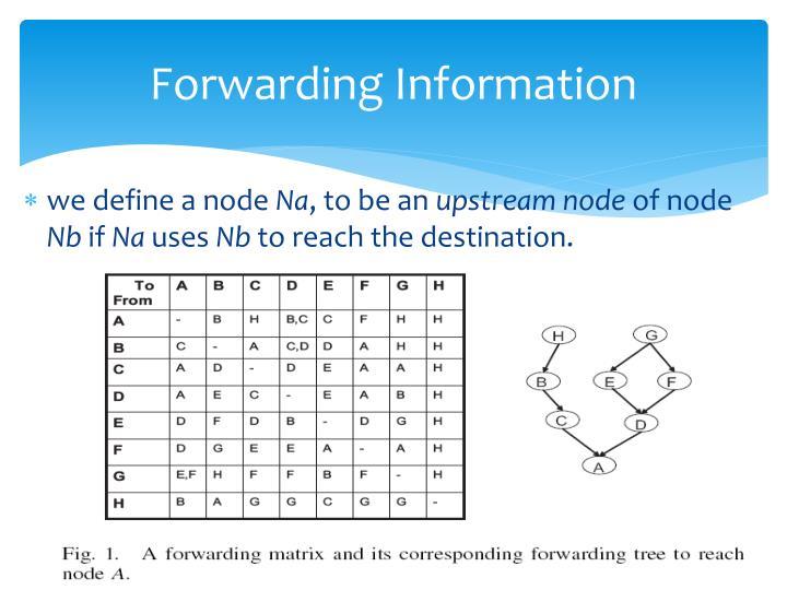 Forwarding Information