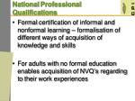 national professional qualifications