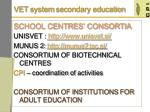 vet system secondary education