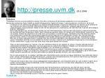 http presse uvm dk 23 2 2006