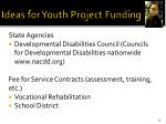 ideas for youth project funding