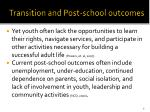 transition and post school outcomes