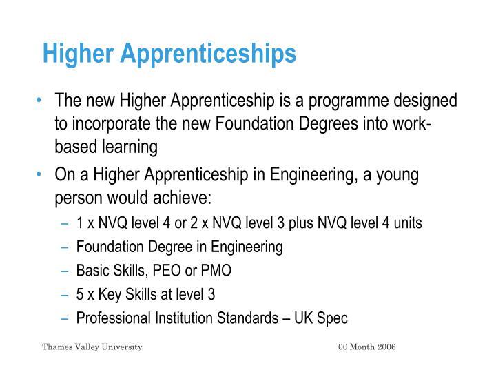 Higher Apprenticeships