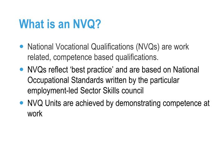 What is an nvq