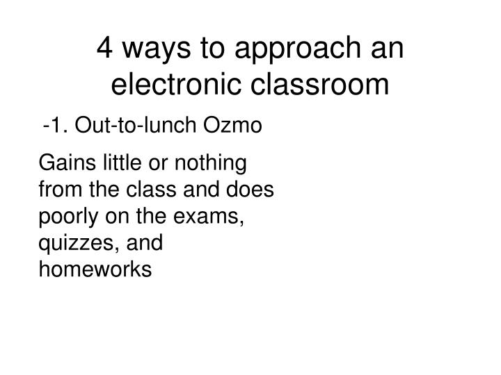 4 ways to approach an electronic classroom