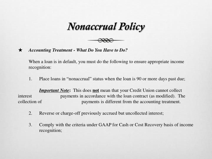 Nonaccrual Policy