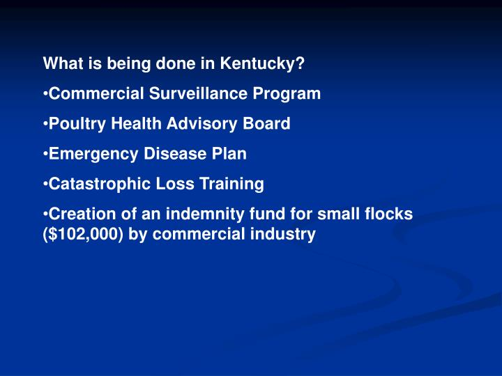 What is being done in Kentucky?