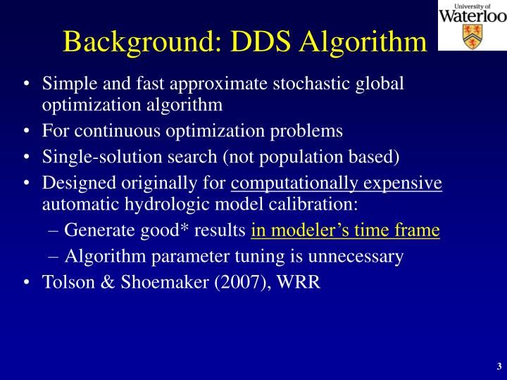 Background dds algorithm