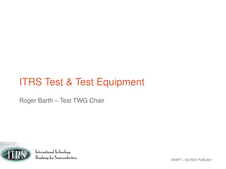 itrs test test equipment n.