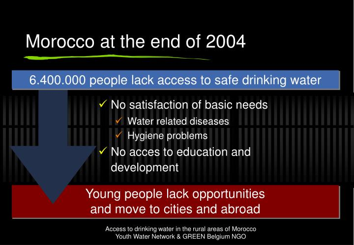 Morocco at the end of 2004