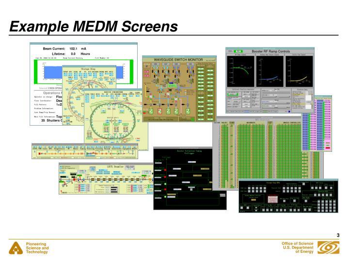 Example medm screens