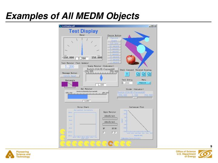 Examples of All MEDM Objects