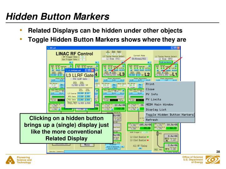 Hidden Button Markers