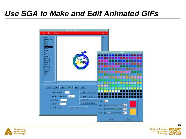 Use SGA to Make and Edit Animated GIFs