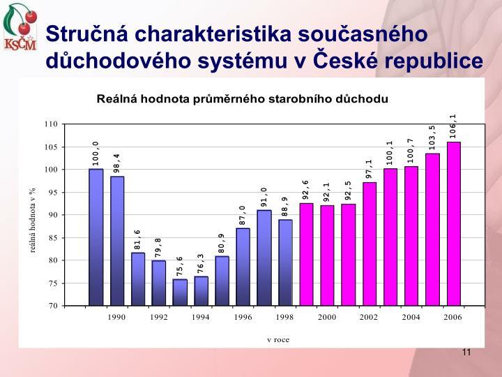 Stručná charakteristika současného důchodového systému v České republice