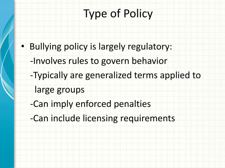 Type of Policy