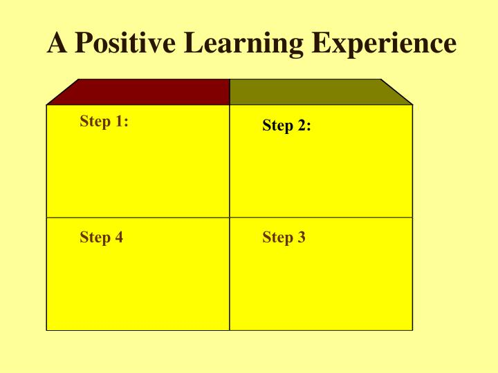 A Positive Learning Experience