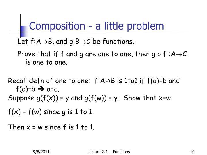 Composition - a little problem