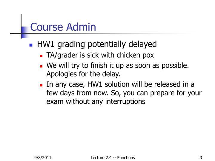 Course admin1