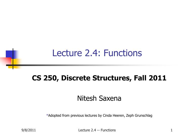 Lecture 2 4 functions