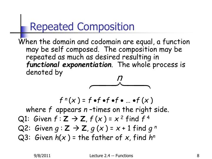 Repeated Composition