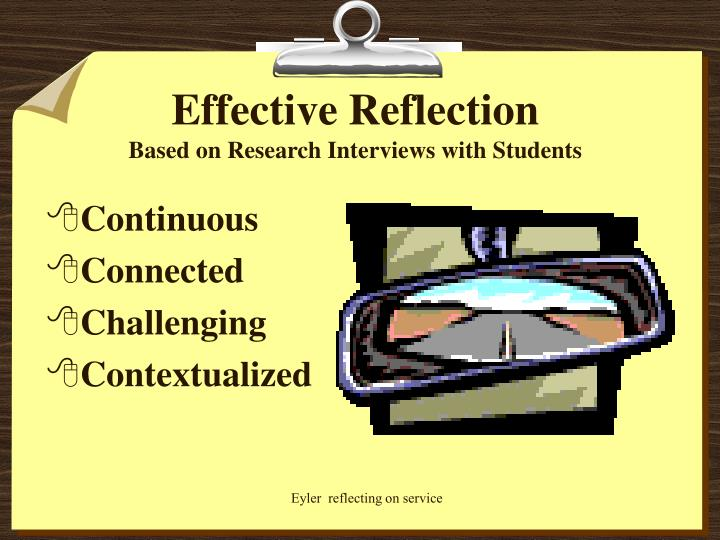 Effective Reflection