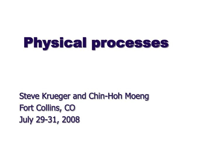 physical processes n.