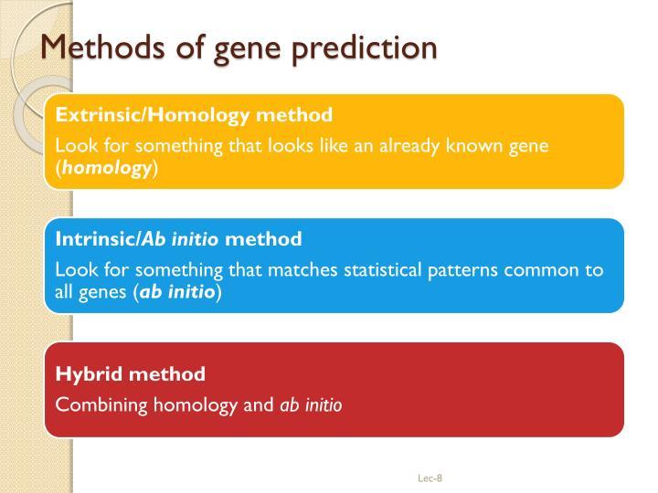 Methods of gene prediction