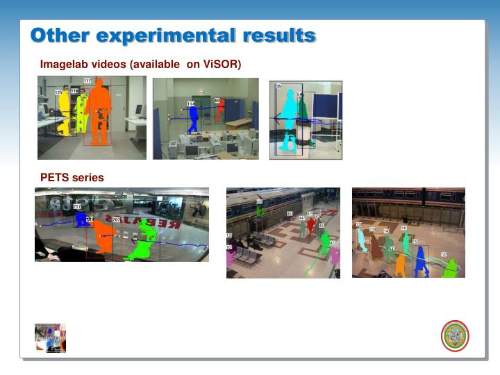 Other experimental results