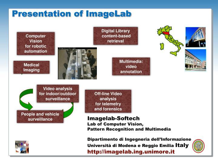 Presentation of imagelab