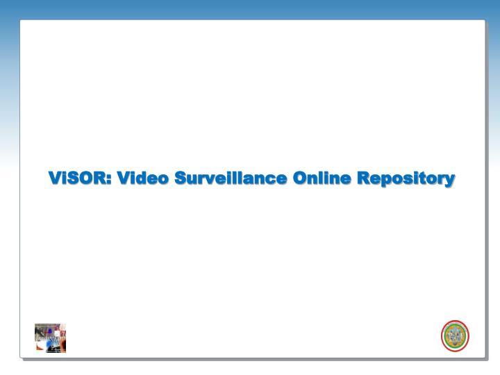 ViSOR: Video Surveillance Online Repository