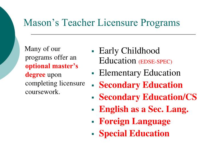 Many of our programs offer an