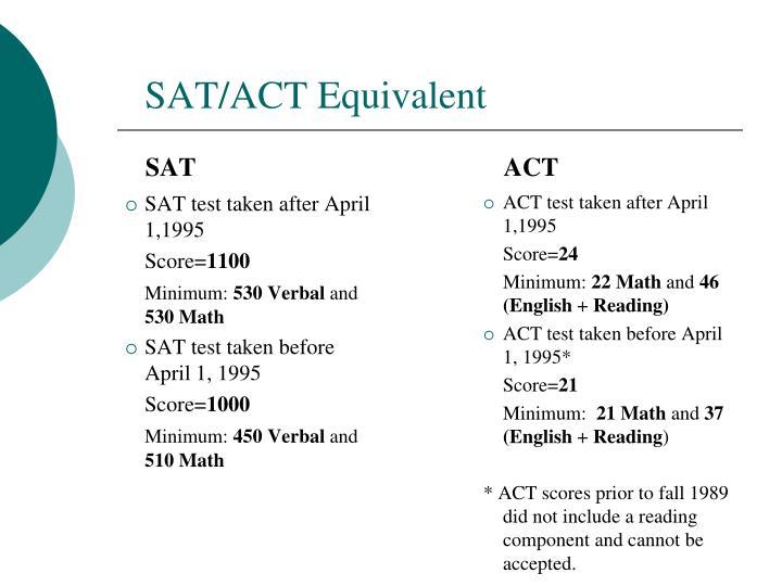 SAT/ACT Equivalent