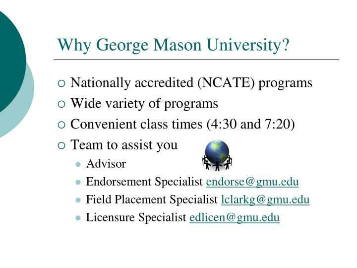 Why George Mason University?
