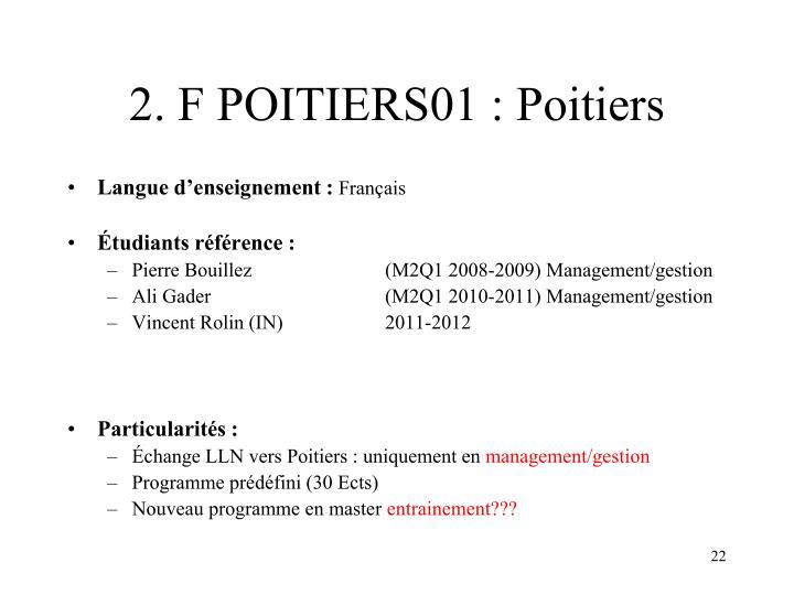 2. F POITIERS01 : Poitiers