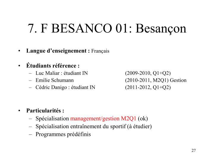 7. F BESANCO 01: Besançon
