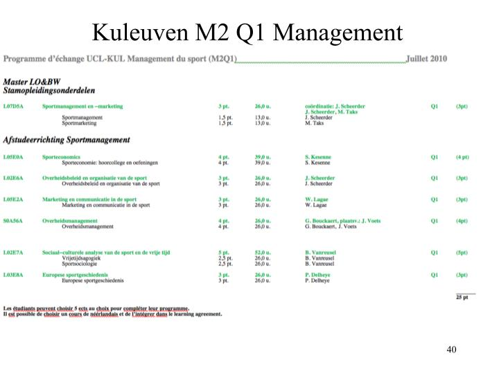 Kuleuven M2 Q1 Management
