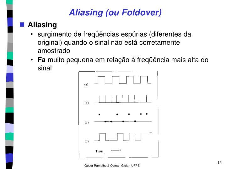 Aliasing (ou Foldover)