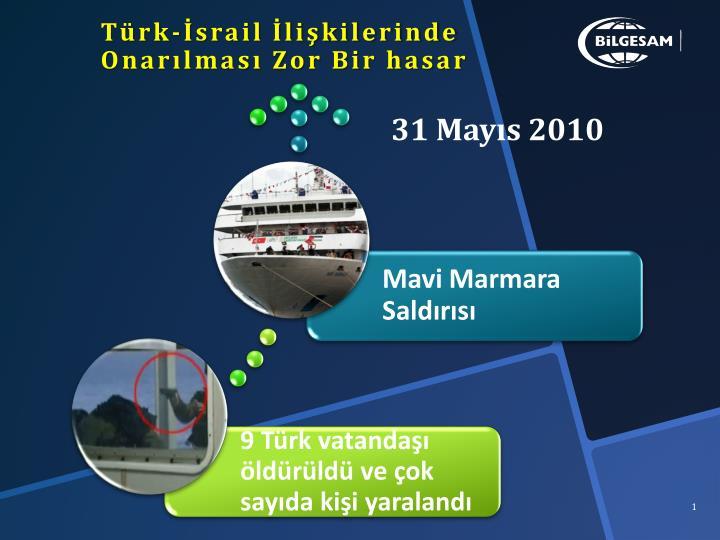 Türk-İsrail İlişkilerinde Onarılması Zor Bir hasar