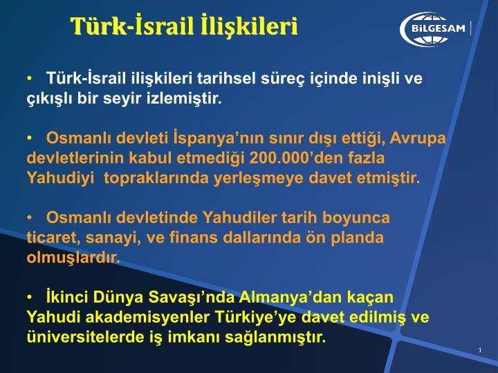 Türk-İsrail İlişkileri